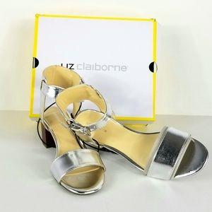 Liz Claiborne Eclipse Women' Silver Heeled Sandals